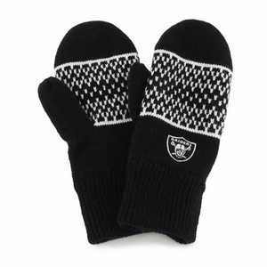 Oakland Raiders Womens Fair Isle Mitten - Click to enlarge
