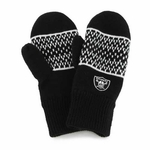 Oakland Raiders Womens Fair Isle Mitten