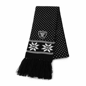 Oakland Raiders Womens Fair Isle Scarf - Click to enlarge