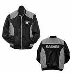 Oakland Raiders Womens Full Zip Lightweight Jacket