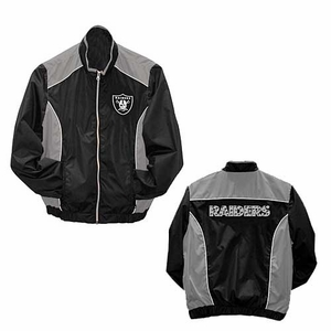 Oakland Raiders Womens Full Zip Lightweight Jacket - Click to enlarge