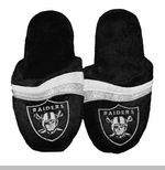 Oakland Raiders Womens Glitter Stripe Slipper