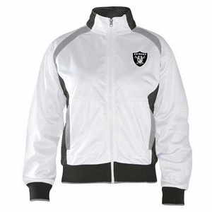 Oakland Raiders Womens Gold Medal Jacket - Click to enlarge