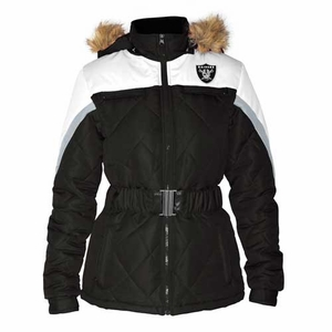 Oakland Raiders Womens Looker Full Zip Jacket - Click to enlarge