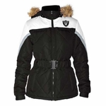 Oakland Raiders Womens Looker Full Zip Jacket