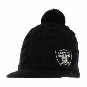 Oakland Raiders Womens Mount Snow Knit Hat - Click to enlarge