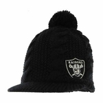 Oakland Raiders Womens Mount Snow Knit Hat