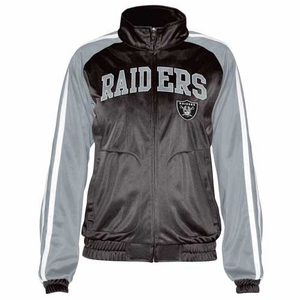 Oakland Raiders Womens Perfect Match Jacket - Click to enlarge