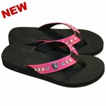 Oakland Raiders Womens Pink Bling Flip Flop