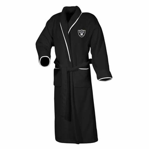 Oakland Raiders Womens Plush Robe - Click to enlarge