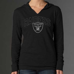 Oakland Raiders '47 Brand Womens Primetime Hooded Tee - Click to enlarge