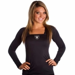 Oakland Raiders Womens Red Zone Long Sleeve Shirt