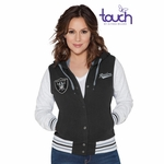 Oakland Raiders Touch by Alyssa Milano Scrimmage Varsity Jacket