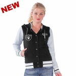 Oakland Raiders Womens Scrimmage Varsity Jacket