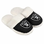 Oakland Raiders Womens Sherpa Slide