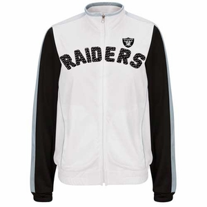 Oakland Raiders Womens Sideline Track Jacket - Click to enlarge