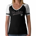 Oakland Raiders Womens Slugger Short Sleeve Tee