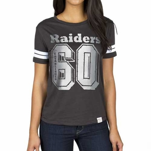 Oakland Raiders Womens Spectator Stripe Tee - Click to enlarge
