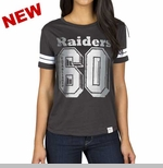 Oakland Raiders Womens Spectator Stripe Tee