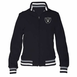 Oakland Raiders Womens Speed Softshell Jacket