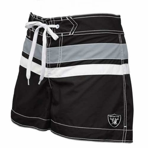 Oakland Raiders Womens Stripe Swim Short - Click to enlarge