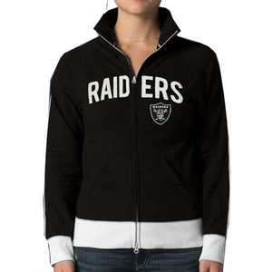 Oakland Raiders Womens Tennis Track Jacket - Click to enlarge