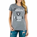 Oakland Raiders Womens Touchdown Triblend tee