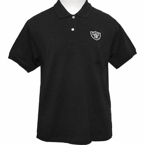 Oakland Raiders Womens Tournament Polo - Black - Click to enlarge