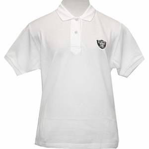 Oakland Raiders Womens Tournament Polo - White - Click to enlarge