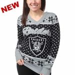 Oakland Raiders Womens Ugly Sweater