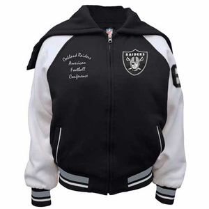Oakland Raiders Womens Varsity Jacket - Click to enlarge