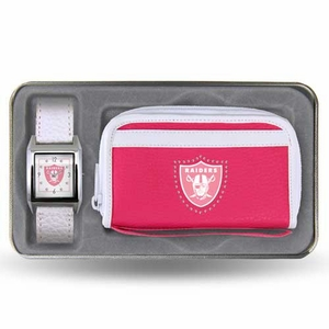 Oakland Raiders Womens Watch Gift Set - Click to enlarge