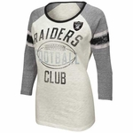 Oakland Raiders Womens Wishbone Top