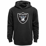 Oakland Raiders Youth Black Logo Hoodie