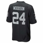 Oakland Raiders Youth Charles Woodson Black Game Jersey