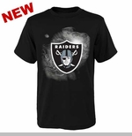 Oakland Raiders Youth Chrome Logo Tee
