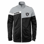 Oakland Raiders Youth Deflect Track Jacket