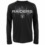 Oakland Raiders Youth Echo Long Sleeve Tee