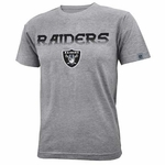 Oakland Raiders Youth Grey Forward Tee