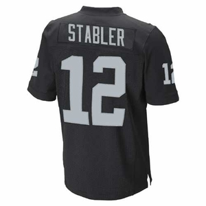 Oakland Raiders Youth Ken Stabler Limited Black Jersey - Click to enlarge
