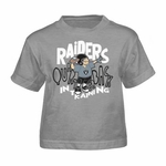 Oakland Raiders Youth Line Of Football Tee