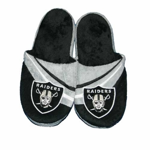 Oakland Raiders Youth Logo Slipper - Click to enlarge