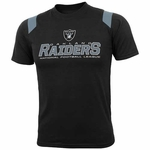 Oakland Raiders Youth Raglan Black Tee