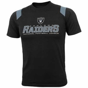 Oakland Raiders Youth Raglan Black Tee - Click to enlarge