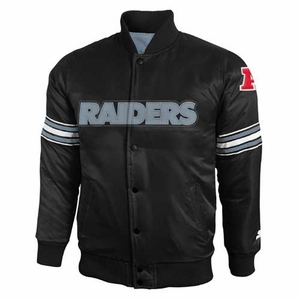 Oakland Raiders Youth Satin Jacket - Click to enlarge