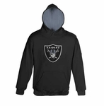 Oakland Raiders Youth Sportsman Black Pullover