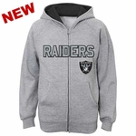 Oakland Raiders Youth Stated Full Zip Hood