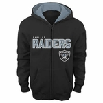 Oakland Raiders Youth Stated Full Zip Sweatshirt