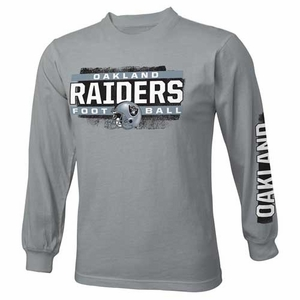 Oakland Raiders Youth Straight Up Long Sleeve Tee - Click to enlarge