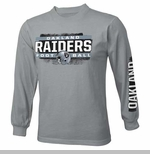Oakland Raiders Youth Straight Up Long Sleeve Tee